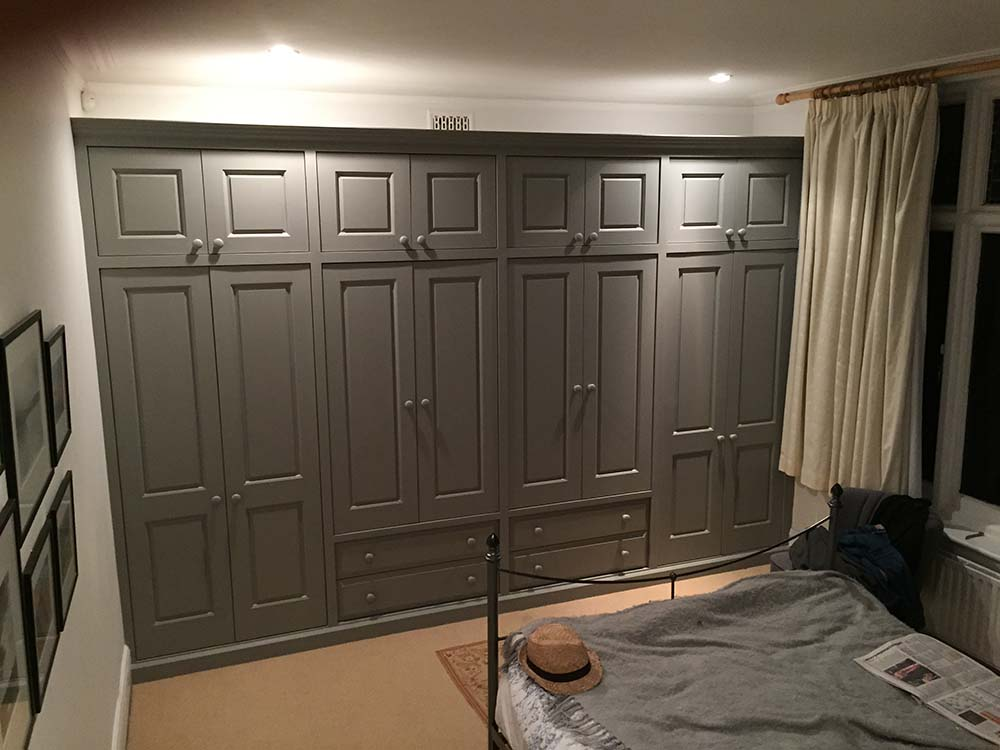Grey Fitted Bedroom Wardrobe Jennings Bramly Furniture Ltd